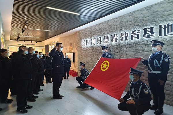 哈巴河县公安局开展纪念五四运动主题活动